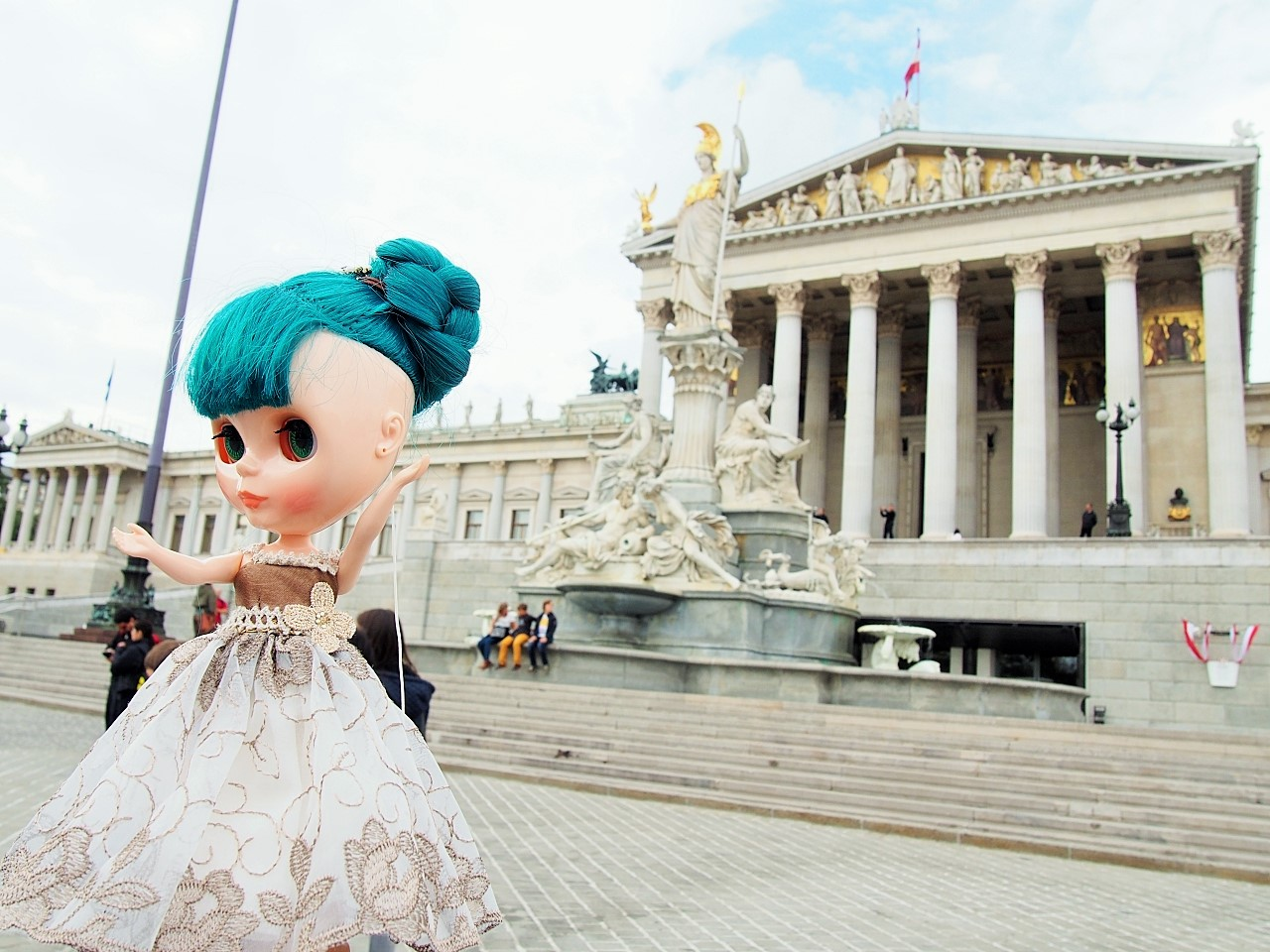 ウィーン 国会議事堂前