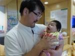 院長と赤ちゃん
