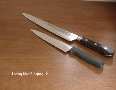 パン切りナイフと包丁