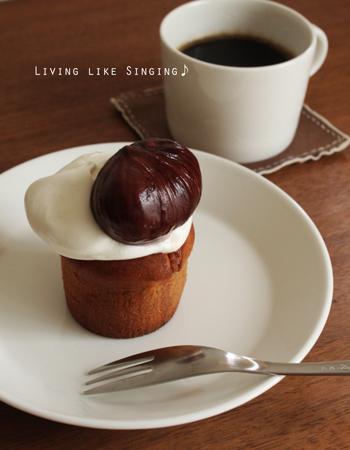 栗のカップケーキ