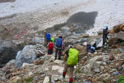 雪渓取付き点