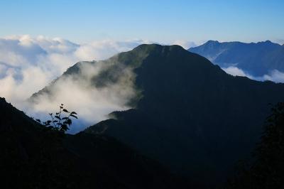 針ノ木峠から北葛岳