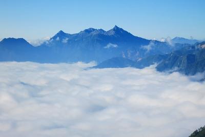 針ノ木岳から望む槍ヶ岳