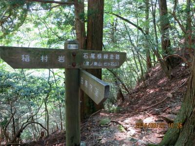 稲村岩尾根(稲村岩・鷹ノ巣山分岐)