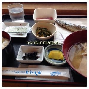 酒田海鮮市場の朝食