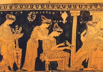 ancient greece pottery Painting women