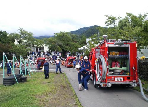 ポンプ車消火訓練(27.8.29)