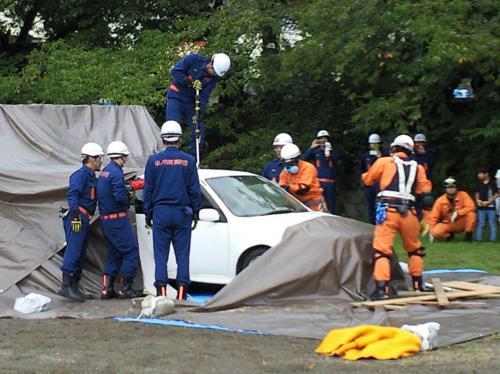 車両救出訓練(27.8.29)