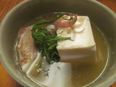 アカムツ湯豆腐小鉢薬味1