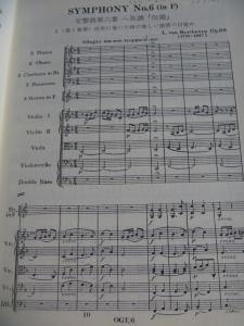 ベートーヴェン交響曲第6番スコア