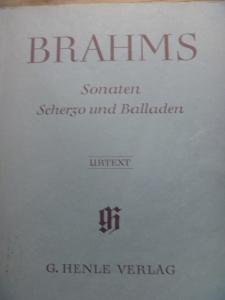 ブラームス楽譜ヘンレ版