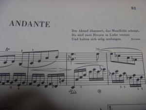 ブラームス ピアノ・ソナタ 第3番 2楽章楽譜