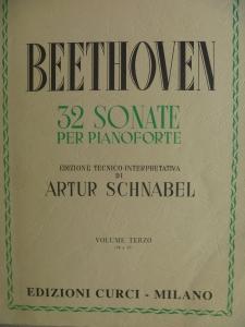 ベートーヴェン ピアノ・ソナタ集楽譜 クルチ版 シュナーベル校訂