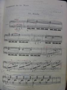 夜のガスパール 楽譜
