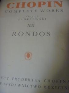 ショパン ロンド パデレフスキー版楽譜