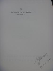 デッレ=ヴィーネ先生の楽譜へのサイン