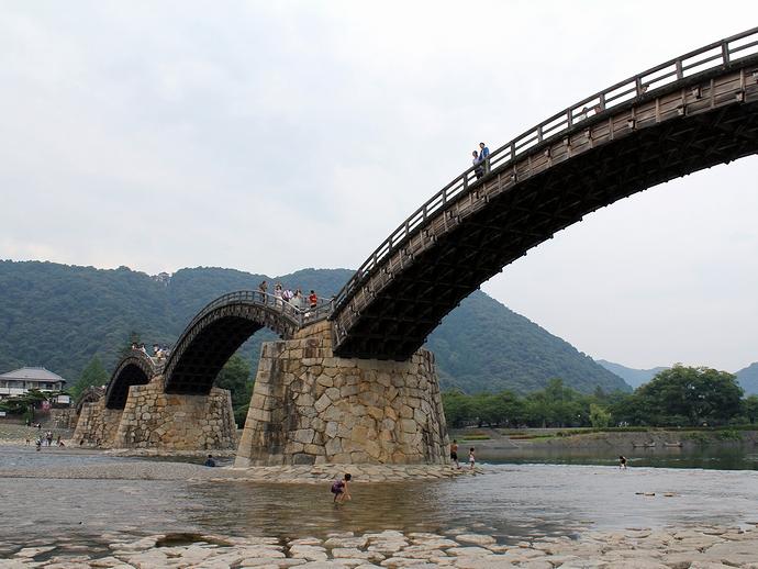 岩国市の日本三名橋、錦帯橋