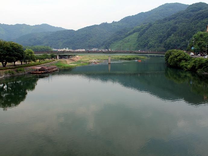 錦帯橋から眺めた錦川