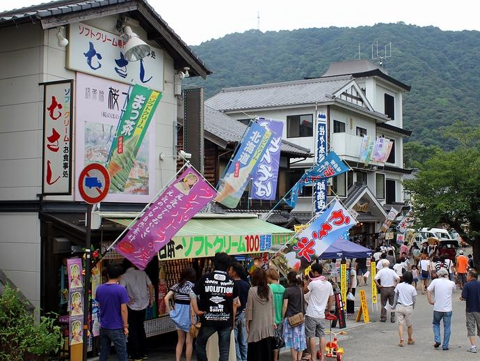 錦帯橋にある日本一のソフトクリーム屋さん