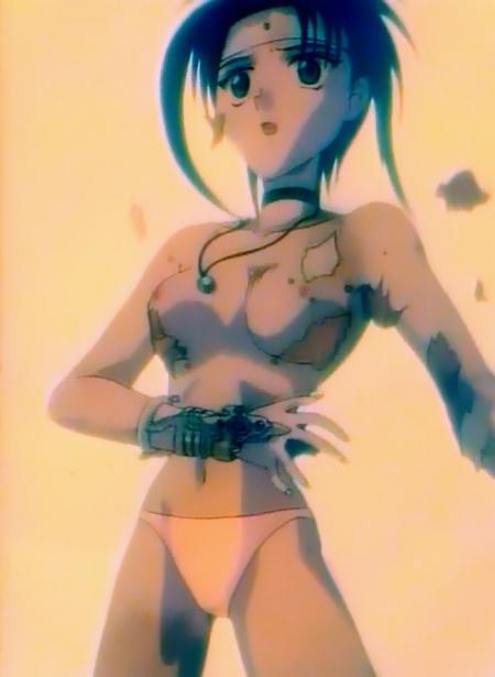 烈火の炎 霧沢風子の胸裸パンツ乳首12