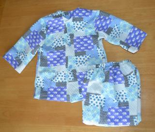 キルトニットのハンドメイドパジャマ