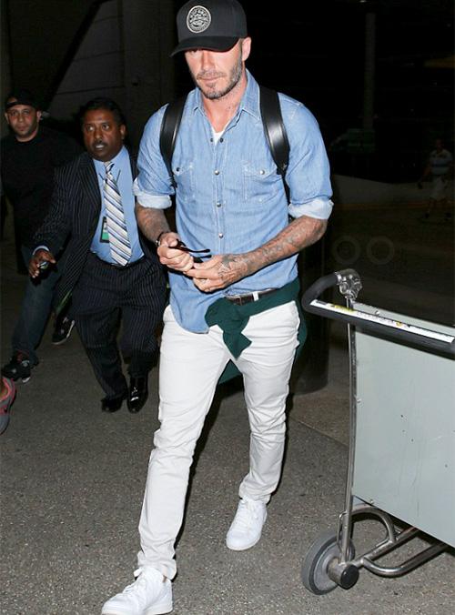 デヴィッド・ベッカム(David Beckham):サンローラン(Saint Laurent)/アディダス(Adidas)×ハイク(Hyke)/ハフ(HUF)/ジバンシィ(Givenchy)