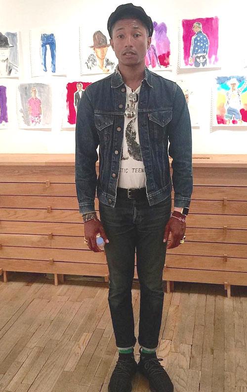 ファレル・ウィリアムス(Pharrell Williams):リーバイス(Levi's)ヒューマンメイド(Human Made)ハッピーソックス(Happy Socks)アディダス(Adidas)