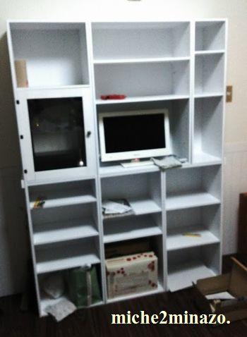 カラーBOX組み合わせ家具製作中