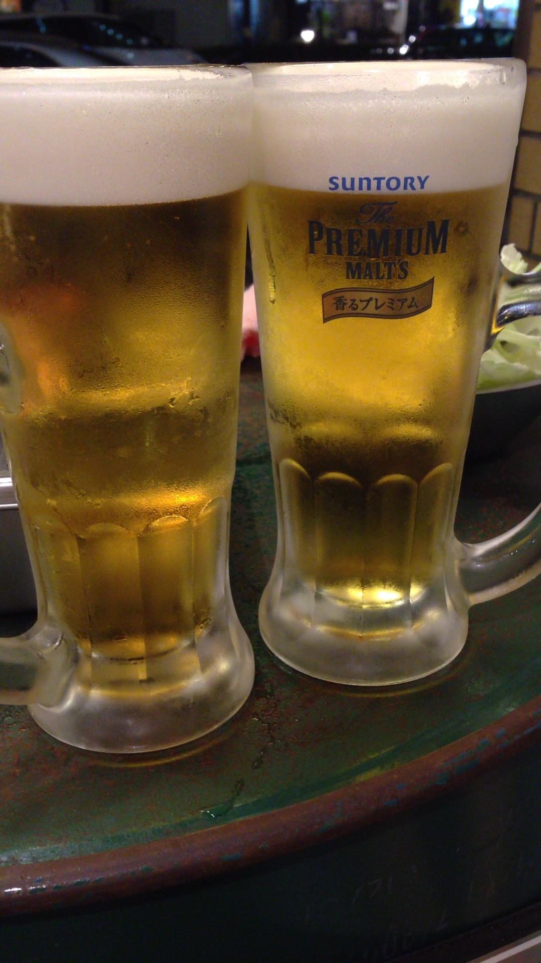 連休祝いビール
