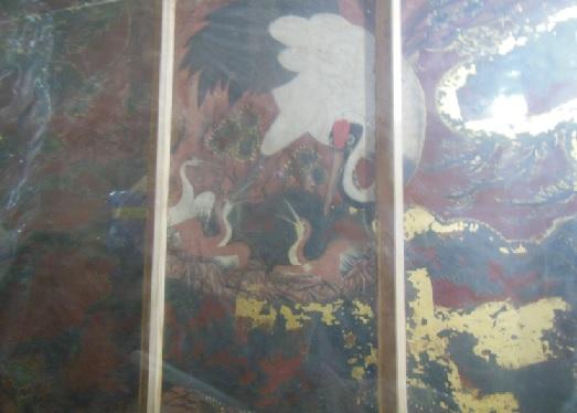 日光松と鶴