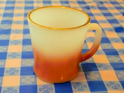 FK 茶グラデーション&ゴールドリムマグ 1