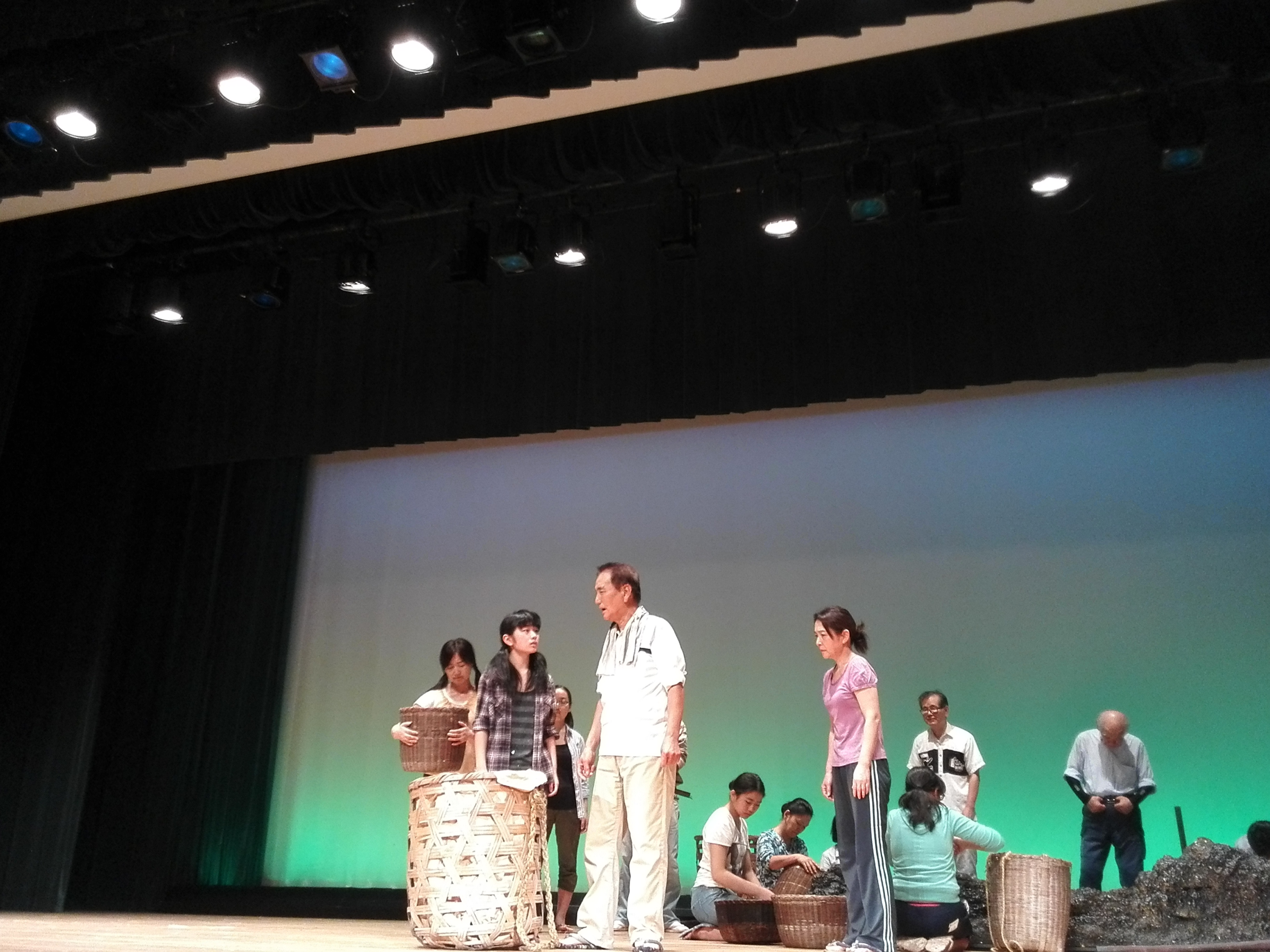 演劇 蚕影様物語リハーサル5