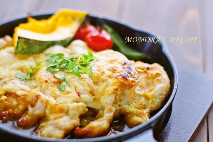 スキレットカレーチーズ焼き (2)