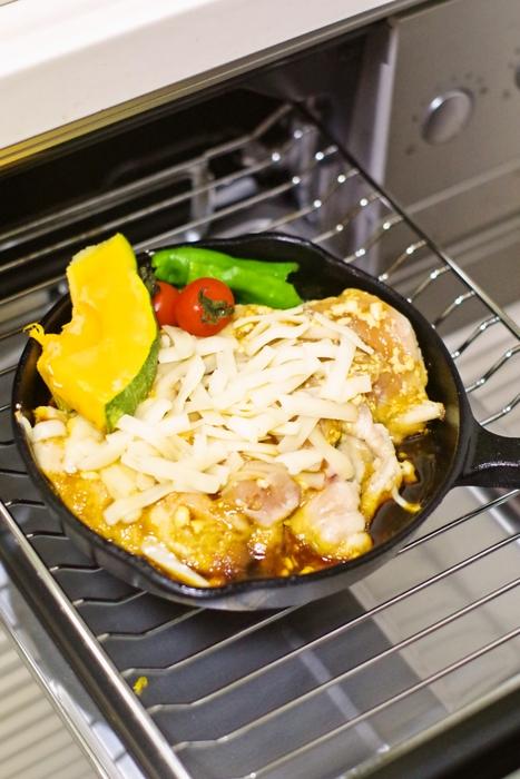 スキレットカレーチーズ焼き手順 (3)
