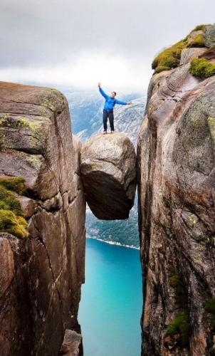 500 10 Kjeregbolten boulder in Rogaland Norway