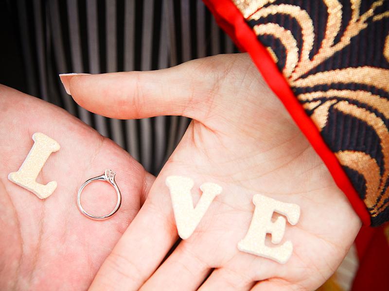 指輪 前撮り 小道具