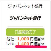 i2iポイントのジャパンネット銀行広告