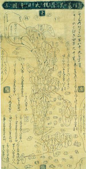 1630年日本地図