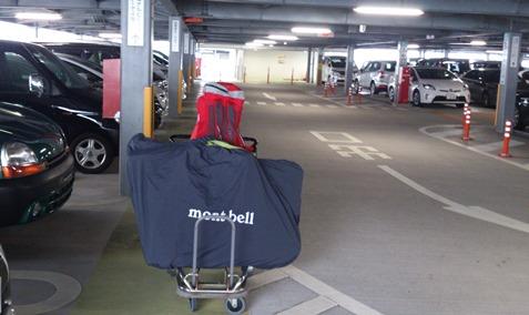 セントレア駐車場でカート