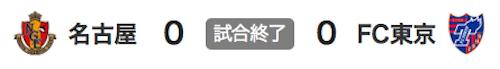 822名古屋0-0東京