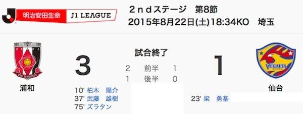 822浦和3-1仙台