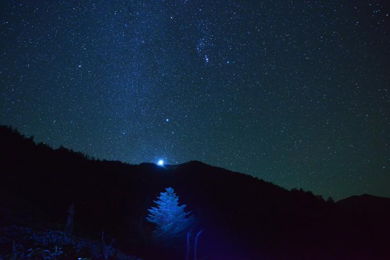 「満天の星煌く剣山」  (徳島県)