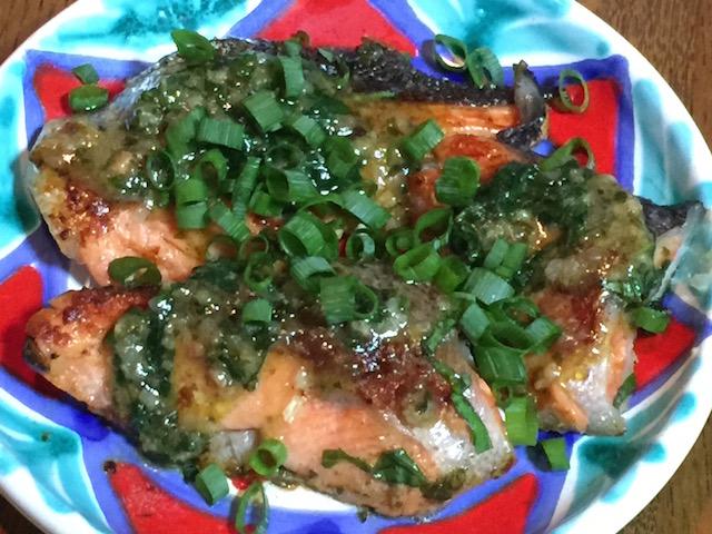 鮭バジル塩麹焼