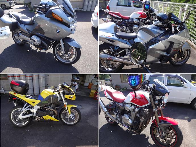 四台バイク