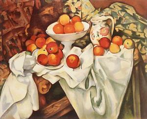 リンゴとオレンジの静物