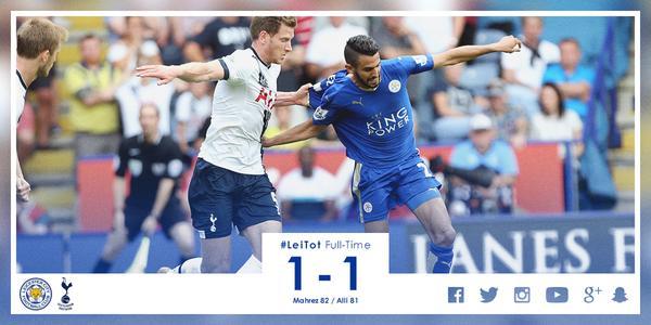 Leicester City 1-1 Tottenham Hotspur #LeiTot