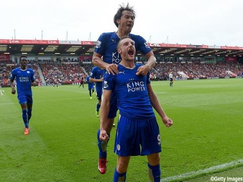 okazaki vardy Bournemouth 1-1 Leicester