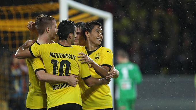 Schwarzgelbe Torgarantie Marco Reus Henrikh Mkhitaryan und Shinji Kagawa erzielten sechs