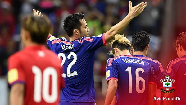 SaintsFC defender MayaYoshida3 scores for Japan as they beat Cambodia 3-0
