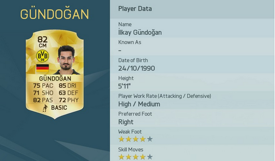 Gundogan fifa16